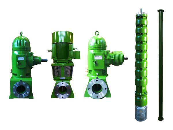 quattro pompe verticali prodotte da Pompe Zanni